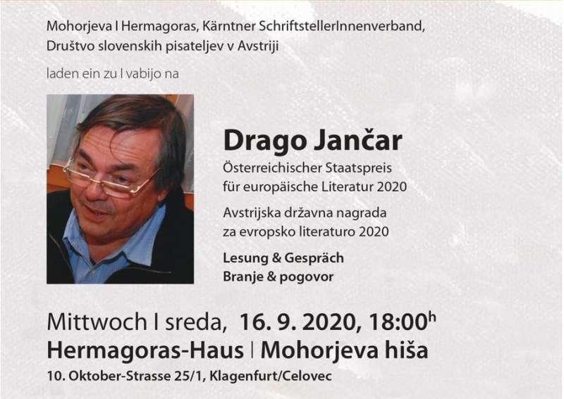 Lesung & Gespräch: Drago Jančar