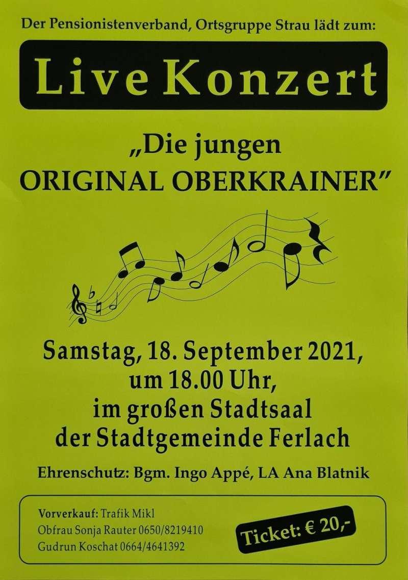 """Konzert """"Die jungen ORIGINAL OBERKRAINER"""" in Ferlach"""