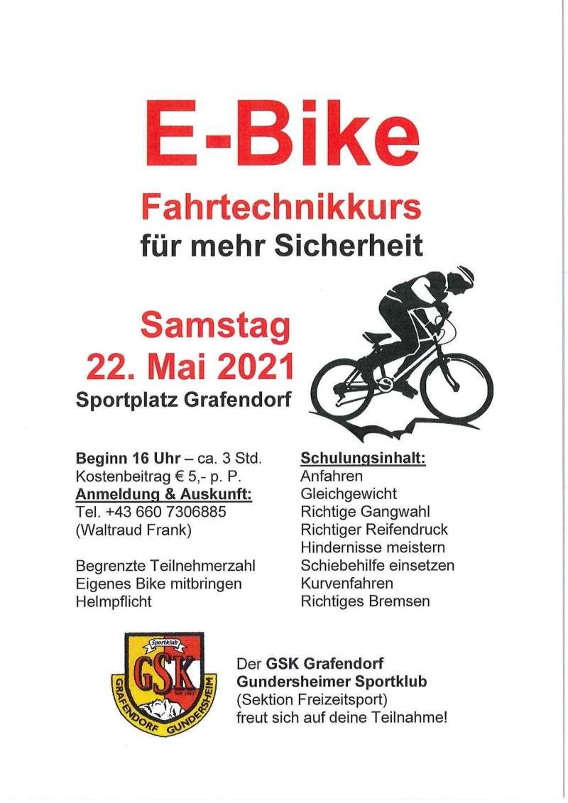 E-Bike Fahrtechnikkurs