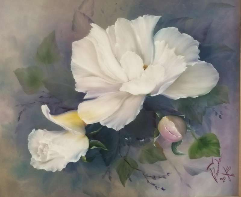 ABGESAGT: Ölmalerei | Blumen | Rose