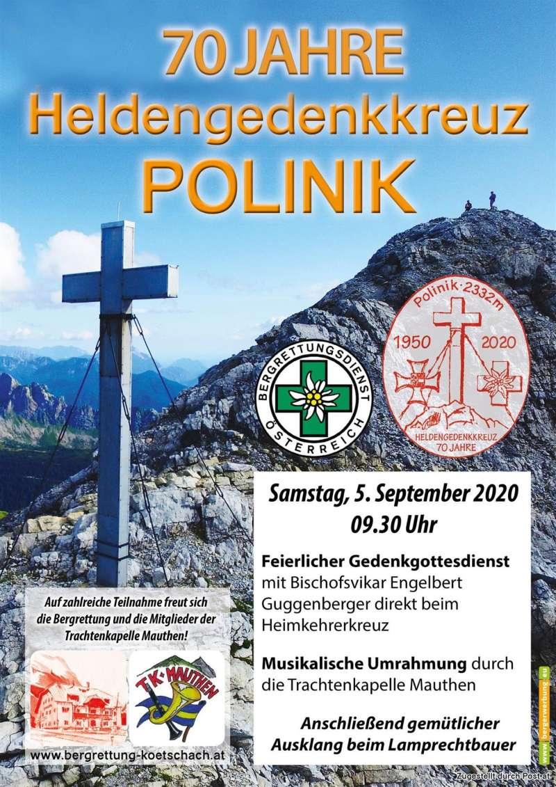 70 Jahre Heldengedenkkreuz Polinik