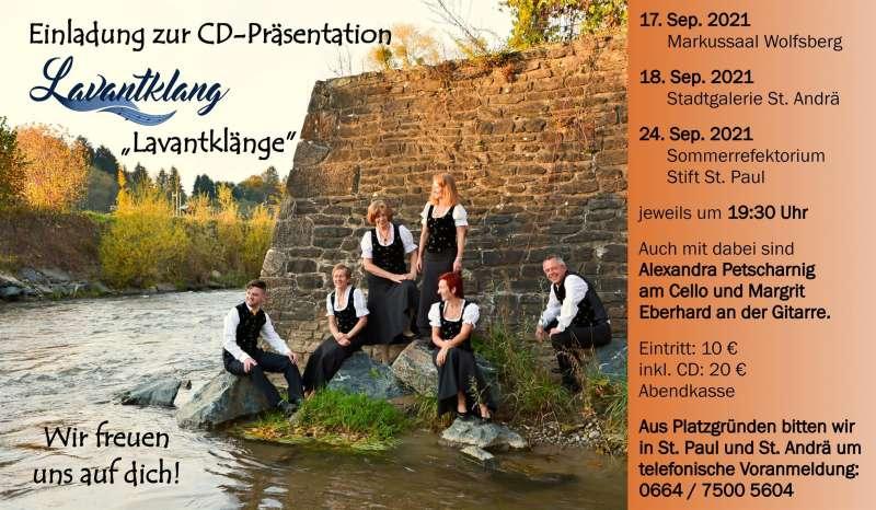 CD-Präsentation Lavantklänge